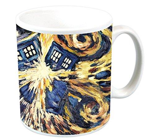 Doctor Who Exploding Tardis TV Show (Van Gogh 's Explodierende Tardis) Keramik Kaffee (Tee, Kakao) 11Oz Tasse