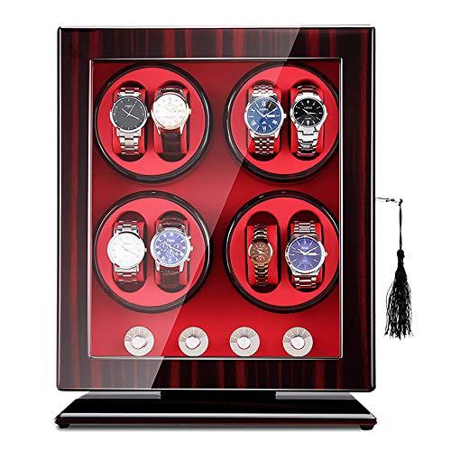 Watch storage box 8 + 0 Uhrendrehbox mit automatischem Aufzug, fünf Betriebsarten, staubdichte Uhrenbox mit transparentem Fenster und Sicherheitsschloss