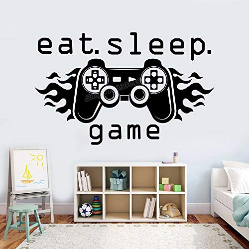 Vinilo decorativo Eat Sleep Game