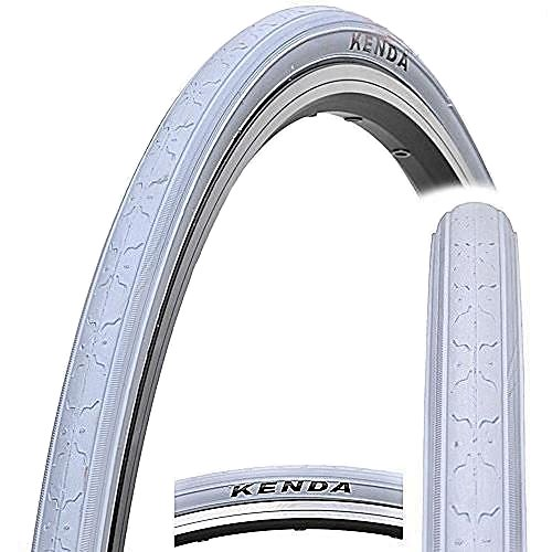 KENDA K152 Fahrradreifen Fixed Fear, Fixie, Single Speed, Rennrad, Track Bike Reifen (weiß)