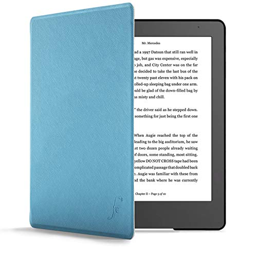 Carcasa de e-Reader de Cuero sint/ético Gris//Negro kwmobile Funda para Kobo Forma Tela - Case y
