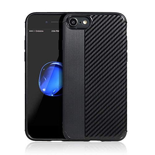 Coovertify Funda EVO Carbon Samsung J7 2017, Carcasa Negra TPU Gel Silicona Flexible Efecto Fibra de Carbono para Samsung Galaxy J7 2017 (J730)
