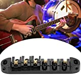 Pont de guitare électrique pratique, pièce de guitare électrique pratique antirouille, ukulélé pour guitare débutant à usage général(black)