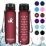 KollyKolla Gourde Sport - 1L, Bouteille d'eau Reutilisable avec Filtre, Gourdes d'eau sans BPA Tritan, pour Enfant & Adulte,...