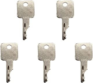 5 Pcs D250 Ignition Key for Case IH Bobcat Tenant Terex Broce Ditch-Witch Vermeer JLG Genie Ingersoll-Rand Timberjack Volvo Grove Terex A77313 6693241 6709527
