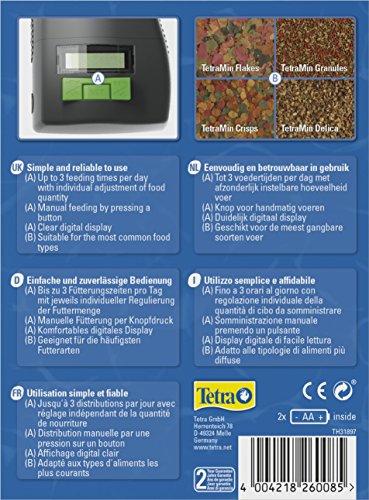 Tetra myFeeder Futterautomat für Zierfische im Aquarium, anthrazit, inklusive Batterien - 3