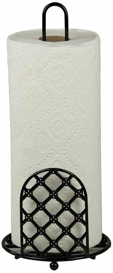 Paper Towel Max 82% OFF Holder Sacramento Mall Black Decor Accessories Kitchen Pape