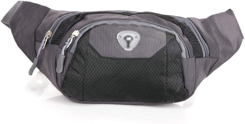WLYB Waist Bag, MultiFunction Pocket Men's Bag Nylon Mobile Phone Bag Outdoor Leisure Bag Riding Sports Bag Messenger Bag Chest Bag