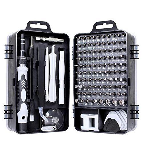xiaoxioaguo Juego de herramientas de reparación de teléfono y destornilladores, puntas hexagonales, puntas aisladas, herramienta multifunción