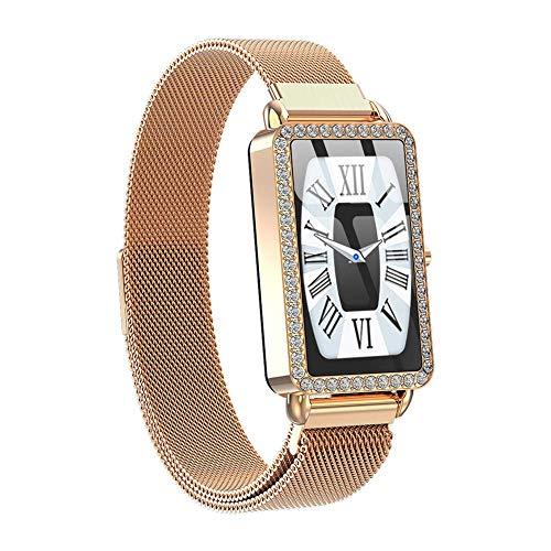 JIAJBG el Reloj de Manera Inteligente A88 Mujeres Monitor de Ritmo Cardíaco Presión Arterial Aptitud Pulsera Deporte Podómetro Smartwatch Ip67 para Señoras de Las Muchachas noble /