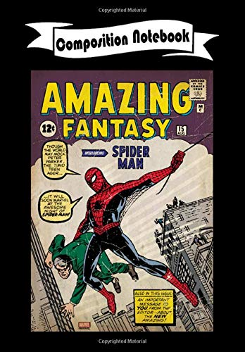 Composition Notebook: Amazing Fantasy Spider-Man Comic #15, Journal 6 x 9, 100 Page Blank Lined Paperback Journal/Notebook