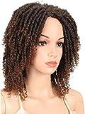 Pelucas 6' corto Dreadlock peluca Twist Pelucas para las mujeres negras rizado sintético