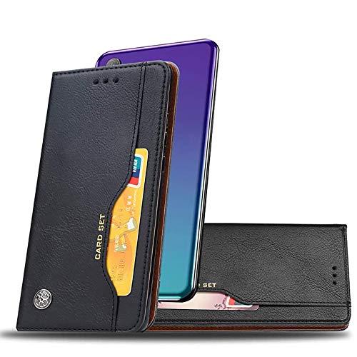 COWEN per Huawei Mate 40 PRO Cover,retrò Premium PU Pelle Flip Cover Magnetica Custodia con Slot Schede Supporto Cover per Huawei Mate 40 PRO-Nero