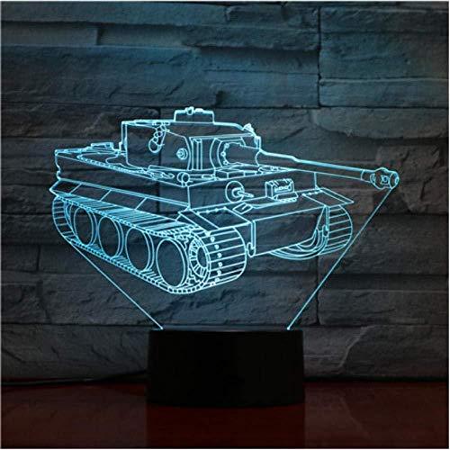 7 bunte Panzer 3D-Lichter Weihnachtsgeschenke Nachtlichter Neuheit LED 3D Tischlampen Leuchten Kids Desk Lamp