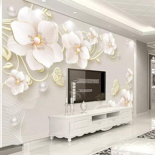 Papel Pintado 3D Flores Marca BYSQX