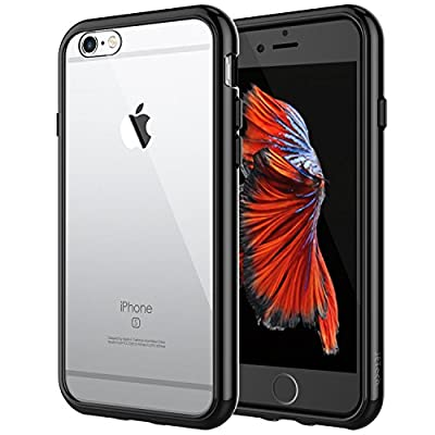 JETech Case for Apple iPhone 6 Plus and iPhone 6s Plus 5.5-Inch, Shock-Absorption Bumper Cover, Anti-Scratch Clear Back, Black