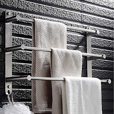 TOWEL RACK & FUSHENG Handtuchhalter Mehrlagig Modern Edelstahl 1pc - Bad/Hotelbad 3-Handtuch-Bar Wandmontage