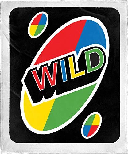 INTIMO UNO Card Game Wild Card Super Soft and Cuddly Plush Fleece Throw Blanket 50' x 60' (127cm x152cm)