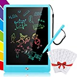 Suhctuptx LCD Writing Tablet, 10 Inch Doodle Board Handwriting Pad with Colorful Screen and 8pcs Drawing Stencils, Electronic Learning Pads Educational Toys Gifts for Kids and Adults (2#)