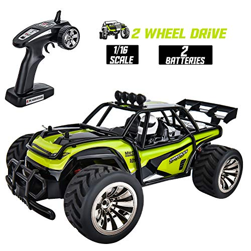Rainbrace Remote Control Car for Boys, 1/16 RC Car High Speed RC Truck Off Road All Terrain 2WD RC Rock Crawler Remote Control Truck Electric RC Racing Car Toys for 6 Years Old Boys Kids Gift