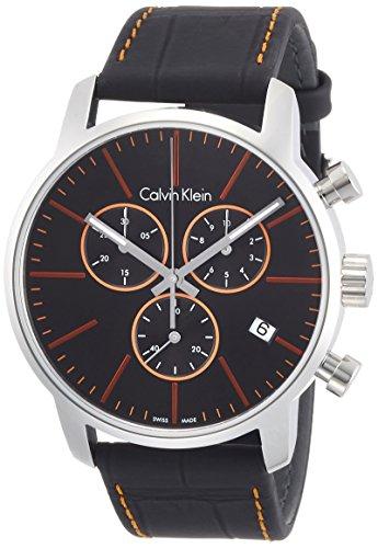 Calvin Klein Analoog Quartz Horloge voor heren met lederen band K2G271C1