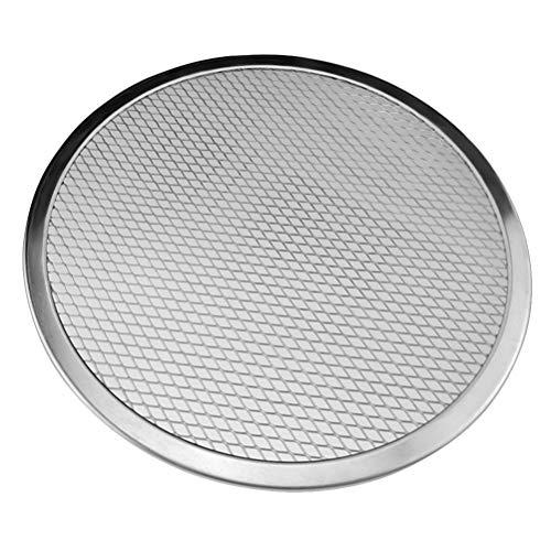 UPKOCH Grille de Cuisson en Aluminium pour Pizza, Moules et Plaques à Pizza pour Grille de Barbecue (10 inches)