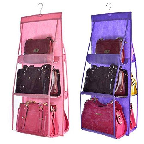 N / A Praktische einfache und transparente Kleiderschrank Hängetasche Einkaufstasche Aufbewahrungstasche Aufbewahrungstasche Türwand transparente Trümmer Schuhbeutel Kleiderbügel Tasche 35x90CM