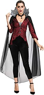 $29 » Alician Halloween Vampire Costume Devil Monster Cosplay Party Fancy Dress Adult Vampire Queen Performance Costume for Easter Day 2905 M Halloween Decoration