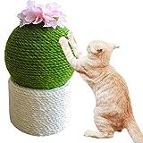 Artículos para mascotas, Divertido Cactus con Flor Gato Rascador Post Cat Interactive Toys,Round