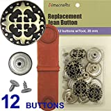 20 mm No-Sew Dungaree Jean Tack Buttons w/Tool (no. 184)