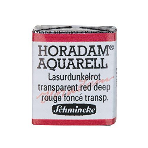 Schmincke Horadam Artists Watercolours–trasparente rosso profondo–Half pan–(Series 1) (355)