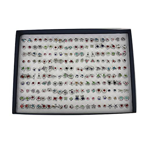 Aretes 100 pares de pendientes de plástico de la caja del temperamento-26