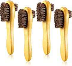 4 Pieces Shoe Polish Dauber Horsehair Polish Shoe Brushes Double Sided Shoe Polish Applicator Brush for Shoes, Leather, Boot, Cloth, Bag