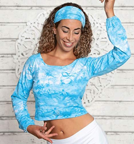 The Spirit of OM Camiseta de yoga y manga larga para mujer (2 piezas, talla S), color turquesa