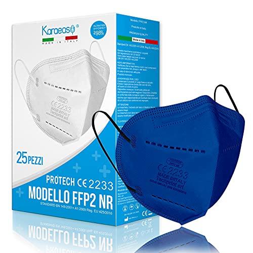 KARAEASY Mascherine Ffp2 Certificate CE 5 strati Blu 50 PZ