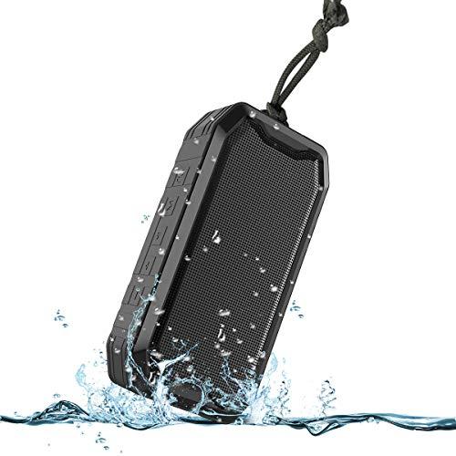 KKUYI Bluetooth luidspreker, draagbare draadloze luidspreker, uitstekende bass, 1200 mAh accu, IPX7 waterbescherming, ideaal voor thuis, kantoor, party, strand, douche