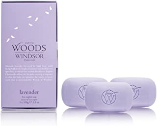Lavender by Woods of Windsor Box of 3 (3 x 100g/3.5oz) Fine English Soap