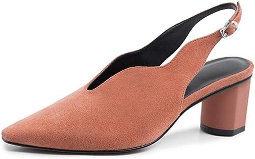 VIVIOO Boucle de la Mode Strap Pumps Confortable Chaussures à Bout carré Chaussures de Printemps à la Main des Pompes Occasionnelles pour Femmes