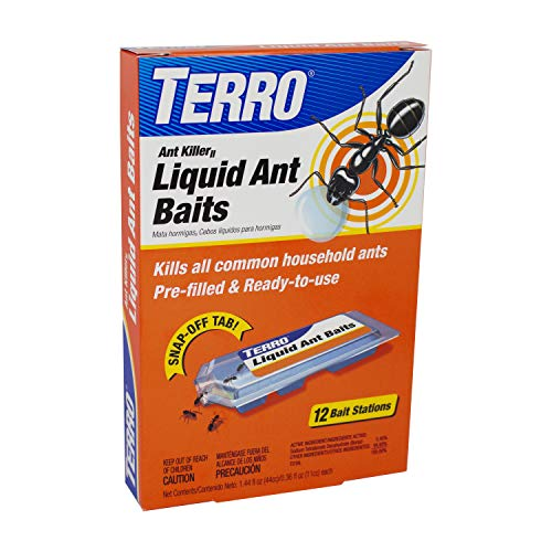 TERRO T300B Liquid Ant Killer, 12 Bait Stations