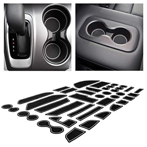 CupHolderHero for Honda Pilot 2016-2020 Custom Liner Accessories – Premium Cup Holder, Console, and Door Pocket Inserts 31-pc Set (White Trim)