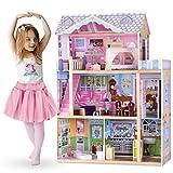 Ricokids Puppenhaus Barbiehaus Puppenstube Puppenvilla Aufzug Holz Zubehör