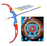 Evaa Enterprise Kids Archery Bow and Arrow Toy Set with Target Outdoor Garden