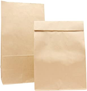 """Paper Lunch Bags, Kslong 50pcs Brown Paper Bags 7x4.3x12.5"""" Durable Kraft Bags Grocery Bag Bakery Bread Sandwich Bag Shopping Party Favor Gift Wrapping Bags Bulk(Brown 12)"""