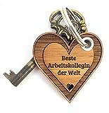 """Mr. & Mrs.Panda, Portachiavi con scritta (in tedesco) """"Beste Kollegin der Welt"""", regalo per collega / amica in ufficio, come regalo di ringraziamento, Natale, compleanno, pensionamento"""