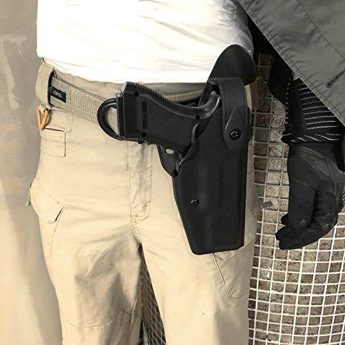LiQinKeJi8 Cómodo Pistola táctica Pistola Holster Gota rápida Glock 17 19 22 23 31 32 Pistola de cinturón de Armas Herramienta de Funda