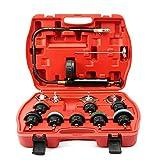 14pcs / Set Detector de Fugas del Sistema de enfriamiento del probador de compresión de presión del radiador (Negro)