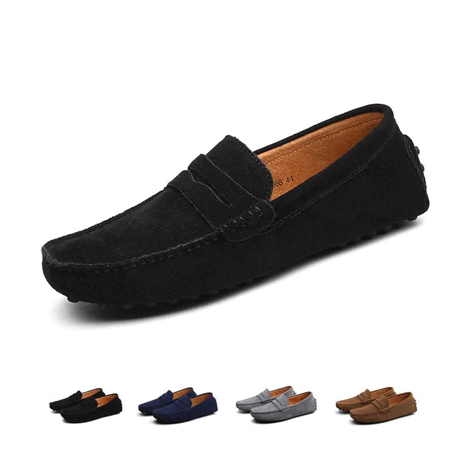 [LSGEGO] ドライビング シューズ メンズ スリップオン ローファー 運転靴 モカシン 靴 ファッション メンズ カジュアルシューズ 本革 2種履き方 手作り 紳士靴 ビジネス シューズ 軽量
