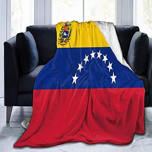 Groefod Venezuela Flag Manta de Franela Manta de Tiro Suave y cálida Manta de Franela para la Cama