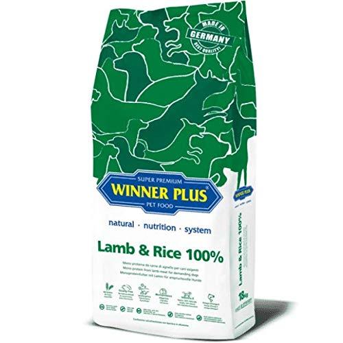 WINNER PLUS Lamb & Rice 100% 18 kg - Mono proteina da carne di agnello per cani esigenti