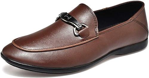 Mocasines Casuales De Los hombres zapatos Planos Resbalón Trabajo Formal De Negocios Mocasines Cómodos Costura A Mano zapatos Antideslizantes Para Caminar zapatos Para Botes
